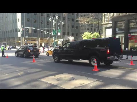 United States Secret Service Federal Units Responding On 42nd Street In Midtown Manhattan