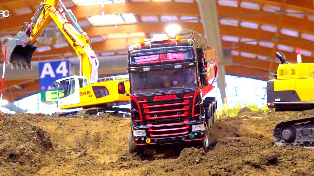 BEST OF RC TRUCK ACTION // HEAVY RC CONSTRUCTION SITE // LIEBHERR // SCANIA // FASZINATION MODELLBAU