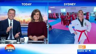 Australian Martial Arts on the Today Show- Natalia Cooper Hip Throw