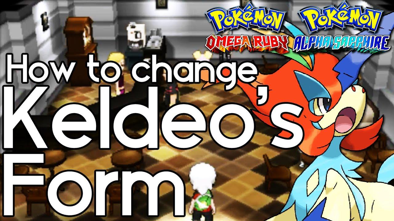 How to Change Keldeo's Form in Pokemon ORAS – Pokemon Omega Ruby ...