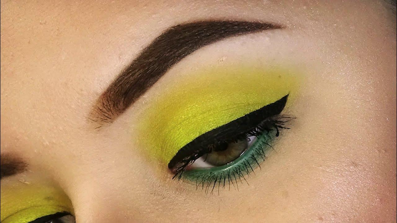 Trucco Occhi Giallo Fluo E Verde Makeup Tutorial Sweetmakeup