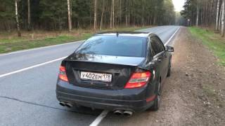 C63 AMG W204 Akrapovic Slip-on exhaust
