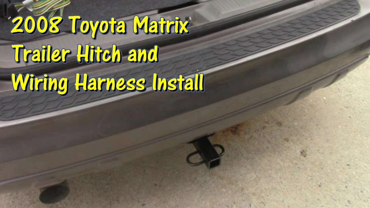 medium resolution of hitch and trailer wiring install on a 2008 toyota matrix by toyota matrix trailer wiring harness