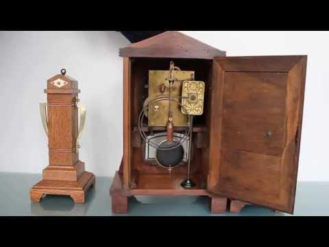 JUNGHANS SET Mantel Clock Antique Gong Chime Germany Art Deco