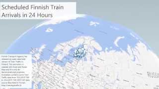 Finnish Train Arrivals Power Map Animation
