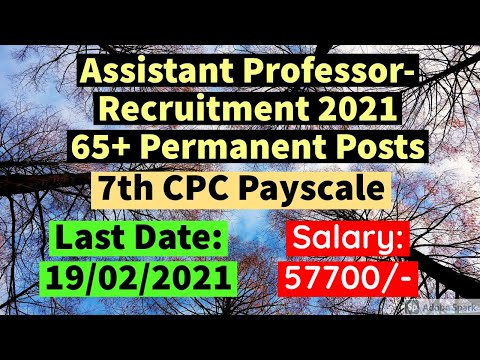 Assistant Professor Job Recruitment News | Job for NET Quali