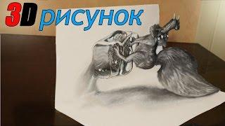 Как нарисовать 3D Рисунок ИЛЛЮЗИЯ  Белка Ледниковый период 3D drawing ILLUSION Squirrel Ice age(ПРОСТЫЕ 3D рисунки - http://www.youtube.com/playlist?list=PL9RJD2tRjH9UJ0pvQhGXJGSOsPsrQE4Uj 3D РИСУНКИ ..., 2015-12-16T19:13:20.000Z)