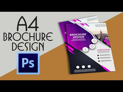 Adobe Photoshop Tutorial - A4 Brochure design | With Easy Steps Urdu/hindi tutorial thumbnail