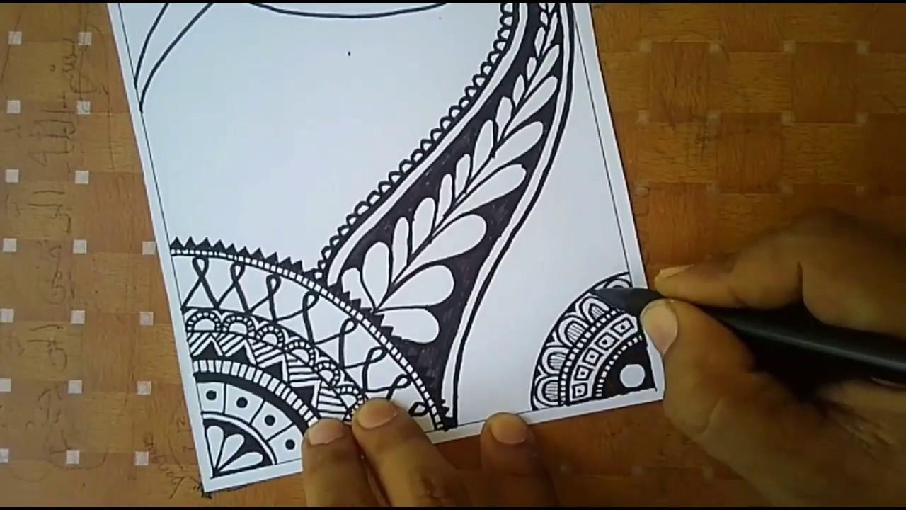 Download Menggambar Batik Tangle Art Step by Step