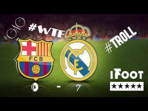 REAL MADRID Vs FC BARCELONA 7   0  ARCHIVE EL CLASICO