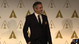 Repeat youtube video Alfonso Cuarón at the 86th Oscars® Nominees Luncheon