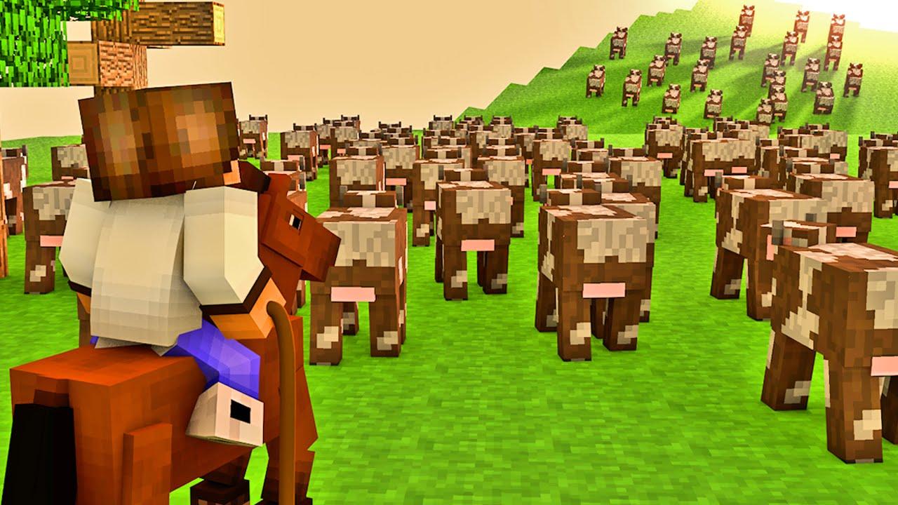 Minecraft - Industrial Craft: Fazenda de Vacas - YouTube