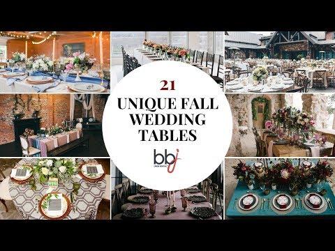 21 Unique Fall Wedding Tables - Linen Rentals | Wedding Table ...
