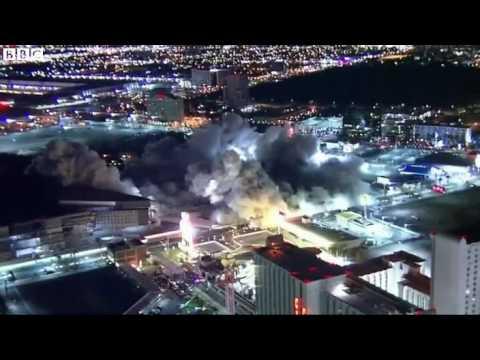 Iconic Las Vegas hotel demolished   BBC News