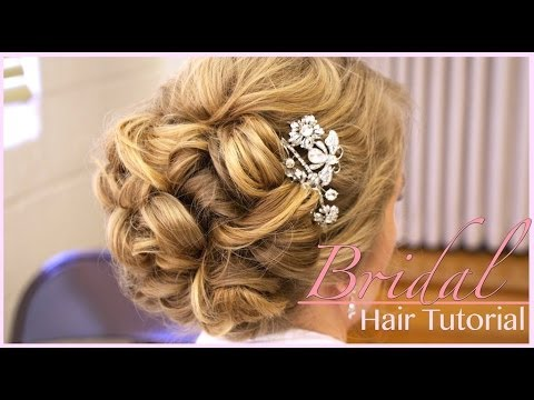 classic bridal updo hair style