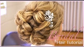 Classic Bridal Updo: Hair Style Tutorial
