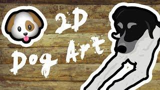 Cover images 2D DOG ART!! // DOG ART TIMELAPSE!! - LIT Panda