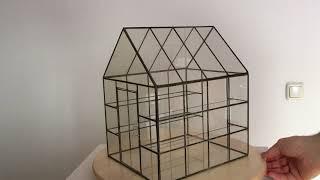 Miniaturen Glasgewächshaus im Maßstab 1:12