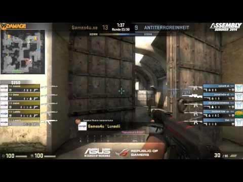 ASUS ROG Summer 2014 - Gruppe C - UB Halbfinale Games4u.se vs. Paranoia eSports (de_dust2)