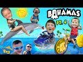 We KISS DOLPHINS, RIDE a JET SKI & WATER BIKE @ Atlantis Resort FUNnel Family Bahamas Trip Part