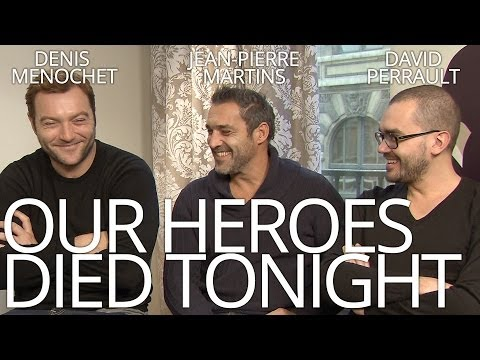OUR HEROES DIED TONIGHT:  with the director and actors  AFFFF2014 in NZ