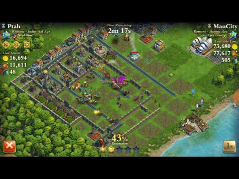 Level 155 Industrial Age Vs. Level 211 Atomic Age - DomiNations