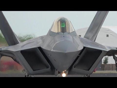 F-22 Raptor Dynamic Thrust Vectoring Display At RIAT 2017