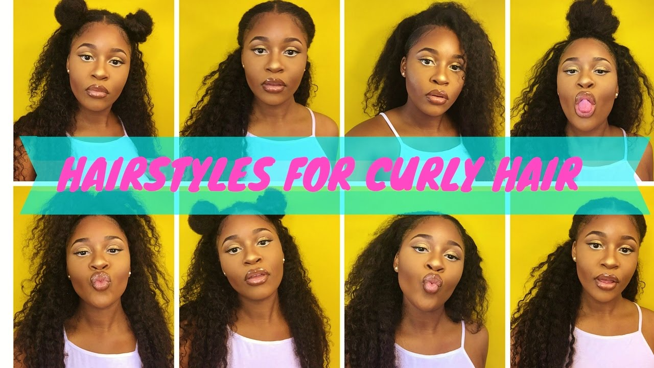 8 Hairstyles For Curly Hair: Quick And Easy Hairstyles For Curly Hair/Wigs And Weaves