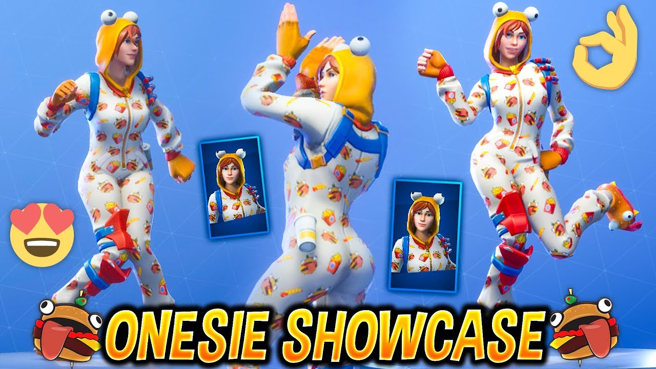 New Onesie Female Durr Burger Skin Showcase With Best Fortnite