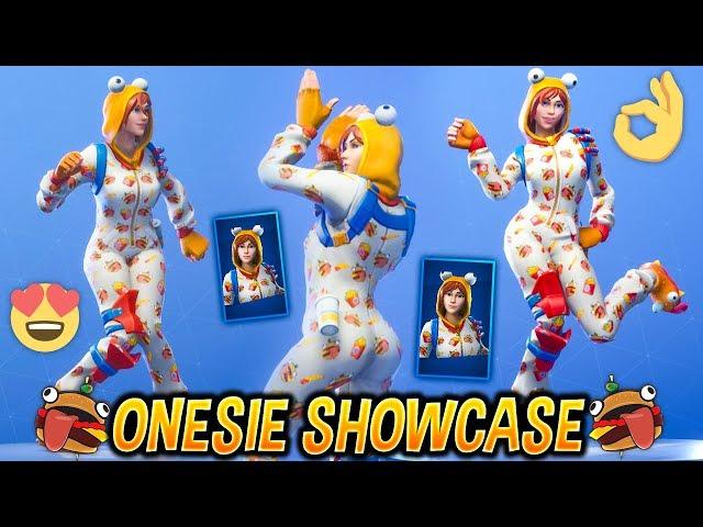 New Onesie Female Durr Burger Skin Showcase With Best Fortnite