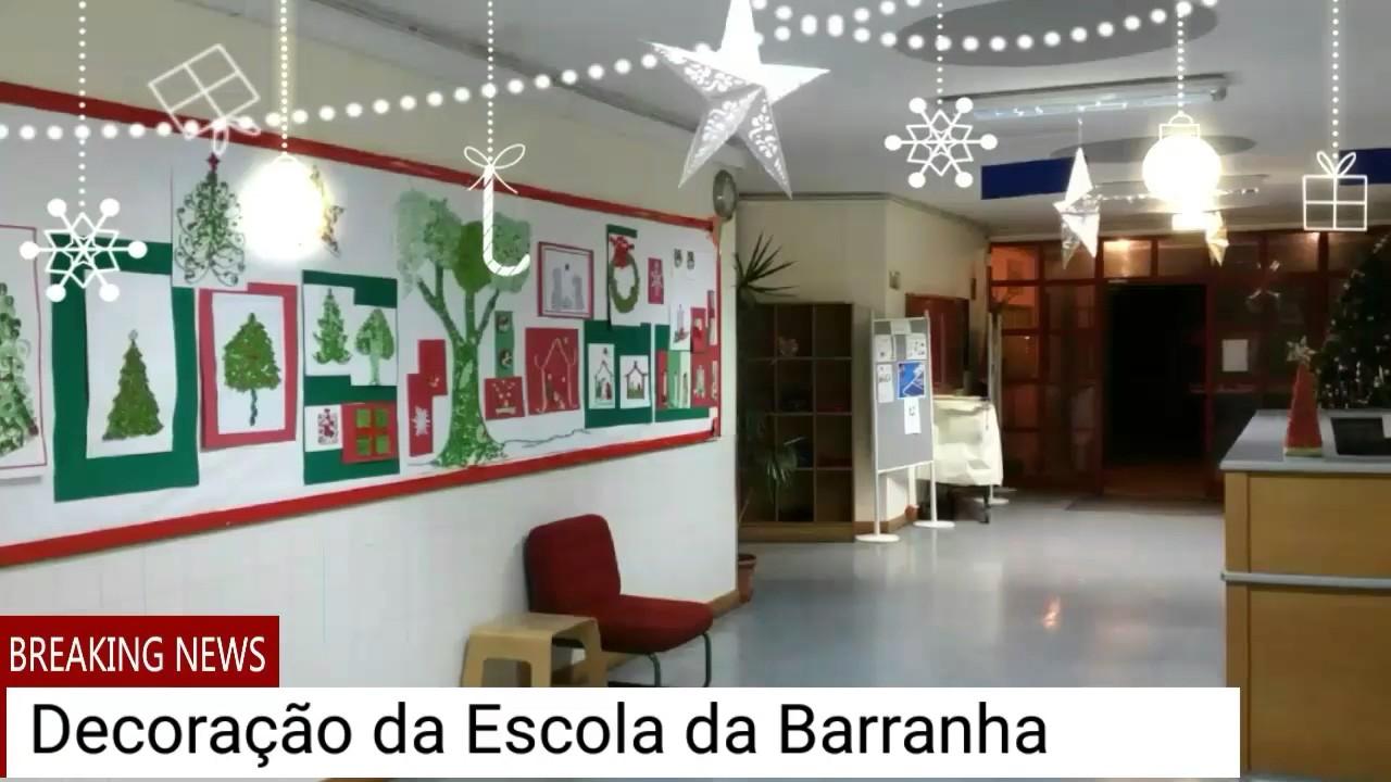 Decoraç u00e3o de Natal na Escola da Barranha YouTube -> Decoração De Natal Simples Escola