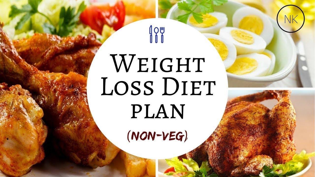 Non Veg Diet Plan To Lose Weight Weight Loss Diet Plan Non Veg