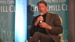 Larry Ellison talks about Sun, sailing and clouds