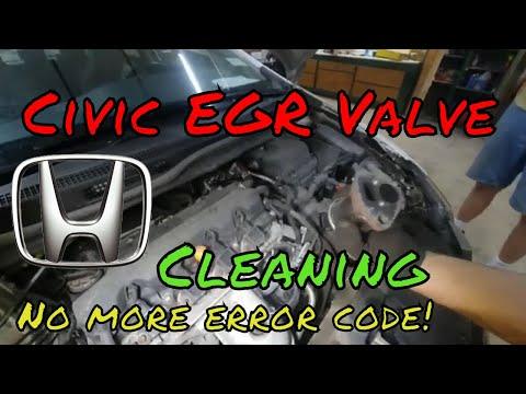 Honda Civic EGR Cleaning P2413 Error Code Fixed Check Engine Light install