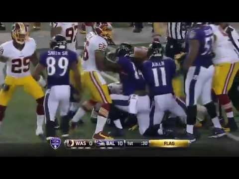 Brawl Breaks out Between Ravens & Redskins, John Harbaugh Loses His Mind