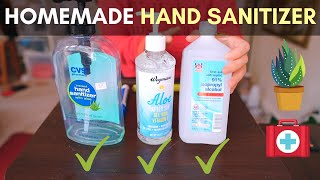 Homemade hand sanitizer following CDC Guideline for COVID-19 #handsanitizer