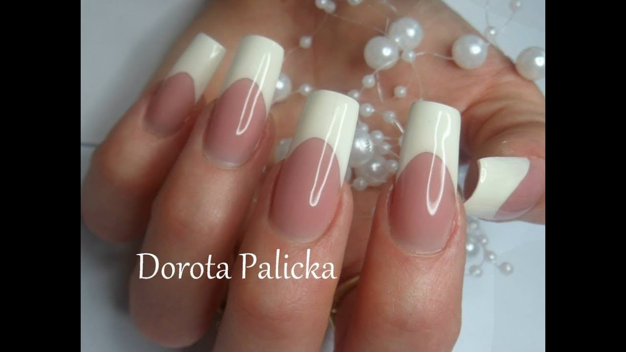 French by Dorota Palicka with Nail Perfect Brush on french gel - YouTube