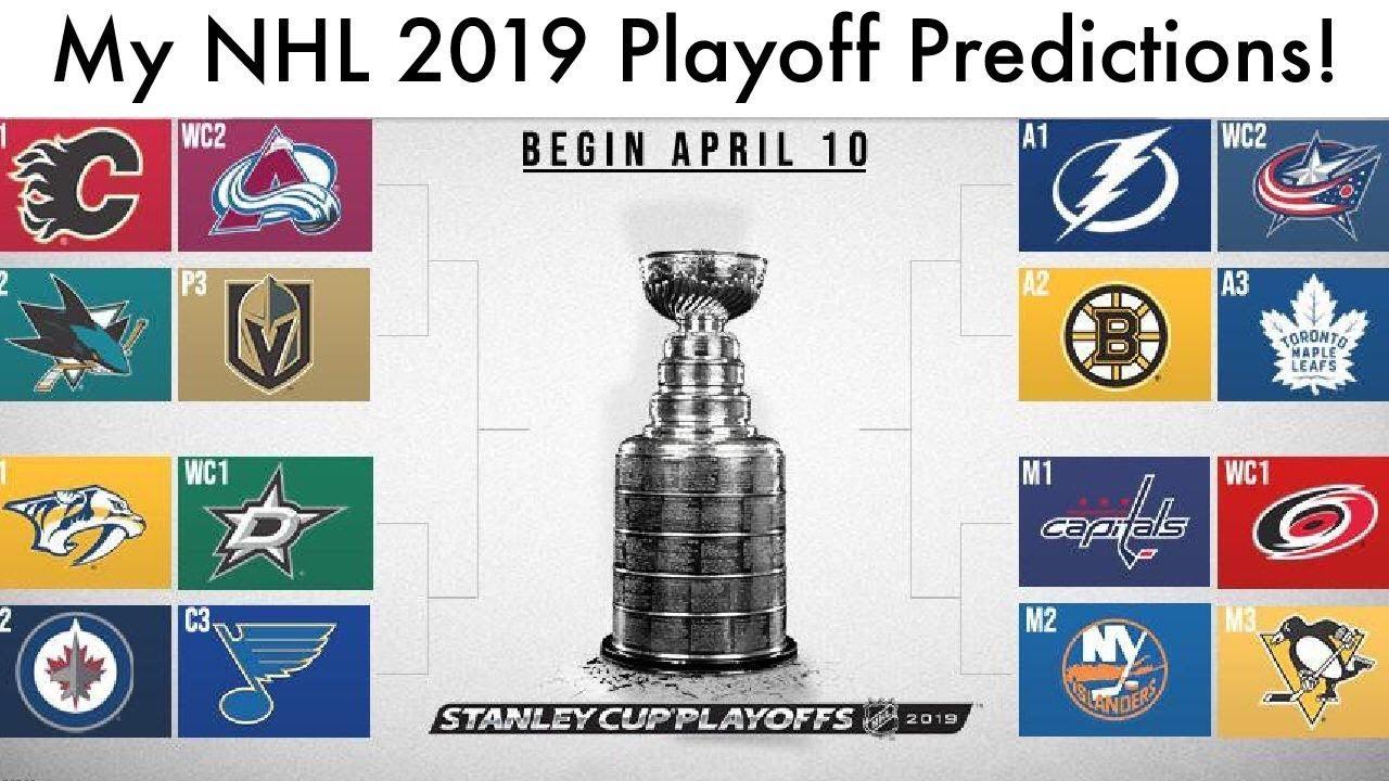 My Nhl 2019 Stanley Cup Playoff Predictions Hockey Playoff Bracket