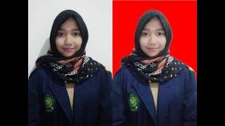 Cara mudah mengubah background foto formal menjadi merah dengan photoshop CS6