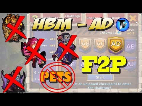 Castle Clash - HBM AD Without PETS, Gf, Sk, Ghoulem, Valentina, Vlad, Santa F2P