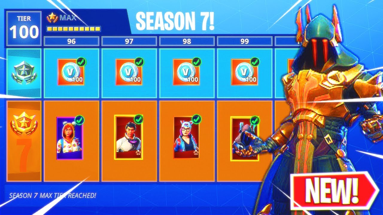 Fortnite Season 7 Max Battle Pass Unlocked New Skins Upgraded