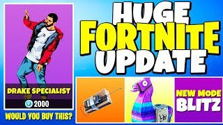 DRAKE Plays FORTNITE, LLAMA Supply Drops, New GAME MODE (HUGE PATCH UPDATE) | Chaos