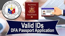 Philippine Passport | Valid IDs & Supporting Documents | DFA (UPDATE)