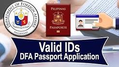 Philippine Passport | Valid IDs & Supporting Documents | DFA (UPDATE)