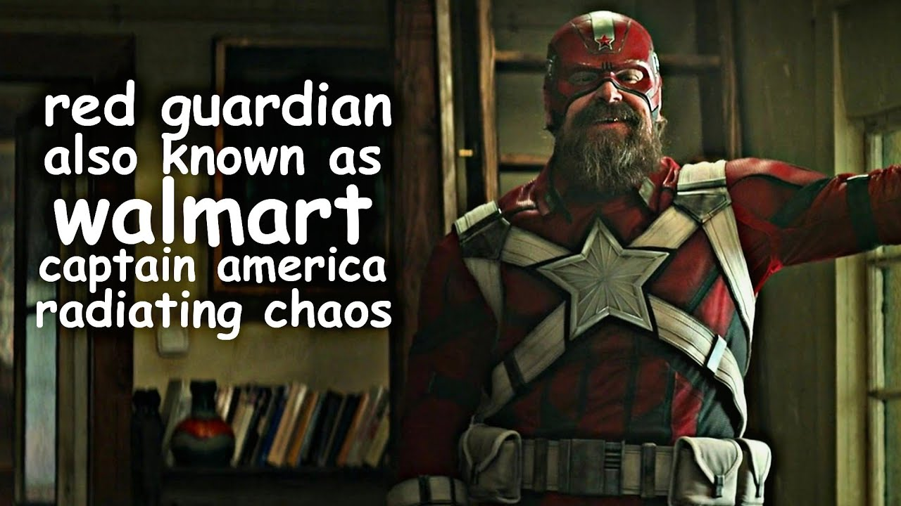 red guardian also known as walmart captain america radiating chaos for about four minutes
