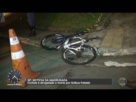 Ciclista morre atropelado em acidente com ônibus em SP | Primeiro Impacto (28/11/17)