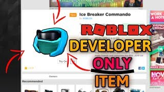 This Item is ONLY FOR DEVELOPERS *RARE* (ROBLOX)