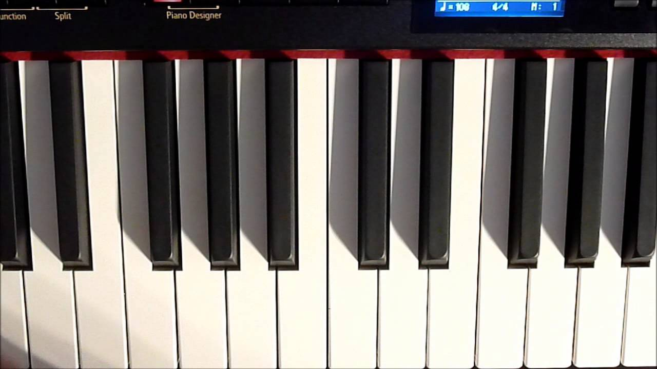 le on de piano n 2 di ses et b mols sur le clavier youtube. Black Bedroom Furniture Sets. Home Design Ideas