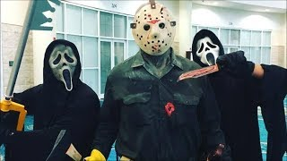 Jason Voorhees and Ghostface in public