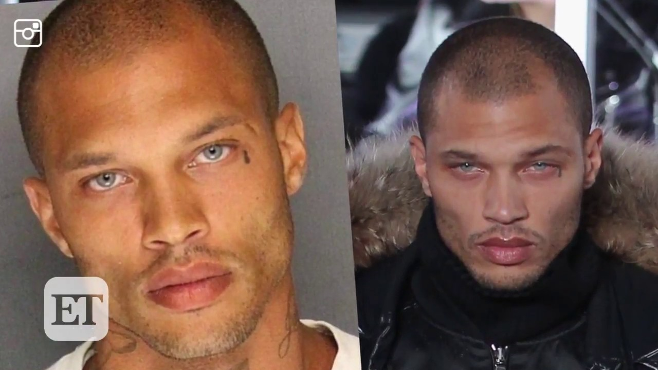 Hot Mugshot Guy Jeremy Meeks Makes Runway Debut During Nyfw Youtube